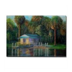 Old Florida Morning at Salt Springs Magnets