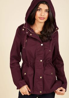 Woods You Be Mine? Jacket in Merlot, @ModCloth