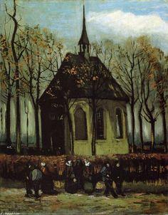 'Capilla en Nuenen', óleo sobre lienzo de Vincent Van Gogh (1853-1890, Netherlands)