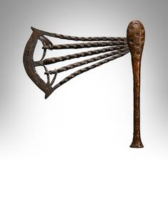 Songye Ceremonial Axe, Democratic Republic of the Congo Ocean Art, Republic Of The Congo, Axe, Auction, Accessories, Handle, Wood, Woodwind Instrument, Timber Wood