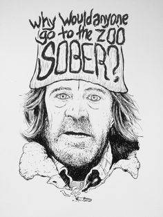 Frank Gallagher (William H. Macy) from the TV show Shameless  9 x 12 Brush pen & Ink on Bristol Board