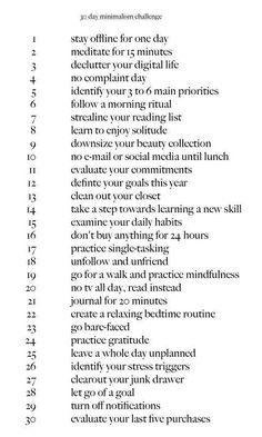 30 days minimalism challenge the