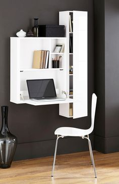 Buy Valencia White Drop Down Desk from the Next UK online shop units for bedroom with study table Office Desks Space Saving Furniture, Home Decor Furniture, Furniture Design, Pipe Furniture, Drop Down Desk, Woodworking Desk Plans, Desks For Small Spaces, Wall Desk, Home Office Desks