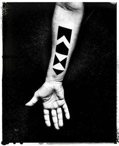 My tattooed arm...Max, name of my little boy. Geometric tattoo.  Designed by me. Tattoo by Joana Catot