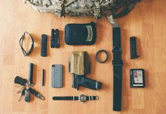 anchordivision: My semi-tactical EDC Yup.--- looks like mine, except mine is all in a purse lol Survival Prepping, Survival Hacks, Survival Kits, Everyday Carry Items, Tactical Accessories, Fisher Space Pen, Molle Pouches, Tac Gear, Bug Out Bag
