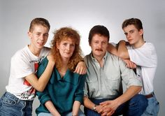 """1989 Meet the McDonalds. Simon told TV Times: """"Charlie and Bev taught me so much - they were my drama school. Before I had kids, Bev and I used to go out a lot and we're still really good friends. I'm also in touch with Charlie. Nick and I had a riot when Simon Gregson, British Drama Series, Street Pictures, Drama School, Coronation Street, Tv Times, Kids Tv, Music Tv"""