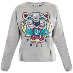 Kenzo Tiger embroidered sweater found on Polyvore