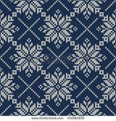 Nordic Knitted Sweater Design. Seamless Knitting Pattern