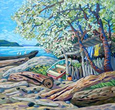 Past Work — Greta Grunow Guzek Crow Totem, Acrylic Painting Techniques, Canadian Artists, Contemporary Artists, All Art, Unique Art, Digital Illustration, Find Art, Street Art