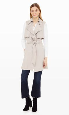 Women | Birte Trench Vest | Club Monaco