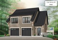 2-CAR RUSTIC GARAGE PLAN   Garage apartment house plan with 2 bedrooms, open floor plan and balcony (# 3933)  http://www.drummondhouseplans.com/house-plan-detail/info/morgan039s-walk-american-1001724.html
