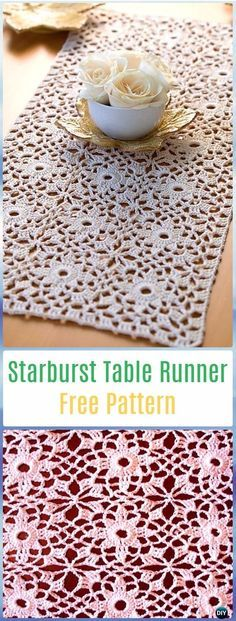 Crochet Starburst Table Runner Free Pattern - Crochet Table Runner Free Patterns