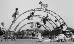 children playing together on a playground, learn a great deal from each other