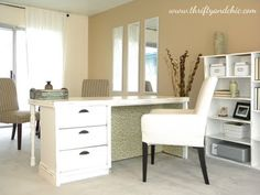 From dingy to NICE - love her home office transformation