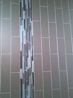 RETRO by GIO #walltile in Beige Matte 4x16 with Stainless Glass & Stone #mosaics in Taupe. #subwaytile