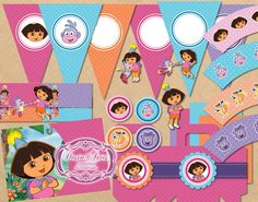 Kit Dora Aventureira | Desin Artes | 2C9EE5 - Elo7