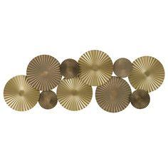 GOLD AVENUE - Decorazione da parete in metallo dorato, 82x34