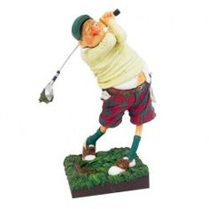 Guillermo Forchino Comic Art The Golfer Figurine - Funny Character, Character Design, Funny Old People, Home Room Design, How To Make Comics, Clay Figures, Polymer Clay Crafts, Whittling, Sculpture