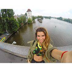 In the Jiraskuv Bridge in the beautiful city of Prague  it was an amazing adventure  #Praga #prague #Praha #ceskarepublika #republicacheca #czechrepublic #czech #europe #instatravel #igtravel #travelgram #viajera #happy #love #travel #instagirl #beautiful #explore #czech_insta #igraczech #city #citygirl #nyc #picoftheday #gopro #goprooftheday #goprouniverse #Praha_life #ceskagram #Praguestagram by carolina_amora