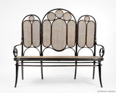 Thonet bench {It's Party Time!} {It's Party Time!} {It's Party Time! Wicker Furniture, Home Furniture, Outdoor Furniture, Furniture Styles, Furniture Design, Art Nouveau, Zona Colonial, Eclectic Modern, Bent Wood