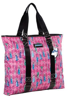 Sydney Love Ladies Golf Day Tote Bags - Pink Golf Motif