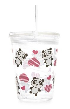 Primark - Pete Panda Cup and Straw