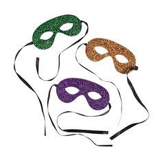Mardi+Gras+Glitter+Tie+Masks+-+OrientalTrading.com