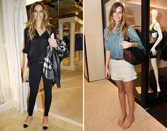 Mariana Weickert - saia branca com jeans
