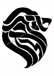 Hebrew word אריאל which means lion of God, an alternate name of Jerusalem. in the shape of lion head.
