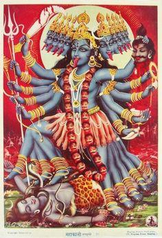 Hindu Kali 11 Art Print by jamesmichals Goddess Kali Images, Durga Images, Kali Goddess, Shiva Hindu, Shiva Shakti, Hindu Art, Kali Mantra, Mother Kali, Lord Vishnu Wallpapers