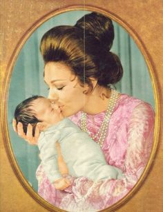 Empress Farah Pahlavi and daughter Princess Leila