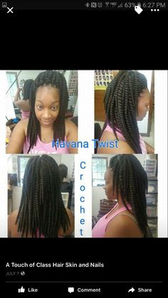 Havana Twist Crochet CALL 601-946-5161 for appointments