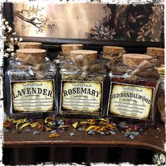 Witchcraft Herbs, Magick, Wiccan, Red Raspberry Leaf, Ritual Bath, Aromatic Herbs, Candle Spells, Passion Flower, Herbal Medicine