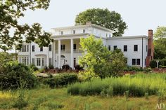 Obercreek's clapboard house blends Federal, Italianate, and Colonial Revival elements.