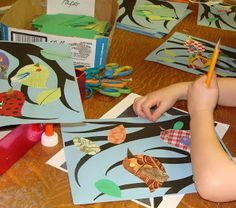 mrspicasso's art room: Birds, Birds, Birds! good idea for an art night