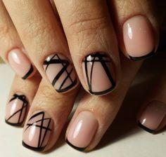 Neutral nail minimalist nail art idea