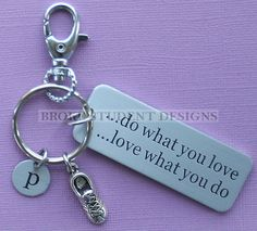 Personalized Running Key Chain Customized by BrokeStudentDesigns, $10.00