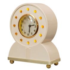 """Exceptional Neon Clock by """"Lackner,"""" Art Deco, 1930s 