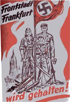 Nazi propaganda poster, Defending Frankfurt.
