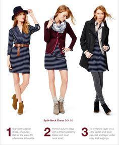 Split-Neck Dress $64.95