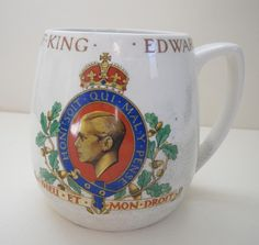 """Wonderful"" is perhaps the wrong category for this.a Coronation Cup for vile, gutless coward.a ""King"" who shirked his duty to marry a despicable woman and one who chose to embrace Hitler and National Socialism. Edward Viii, Royal Tea, Vintage Tins, Royal Weddings, Wonderful Things, At Least, Socialism, Mugs, Queen Elizabeth"