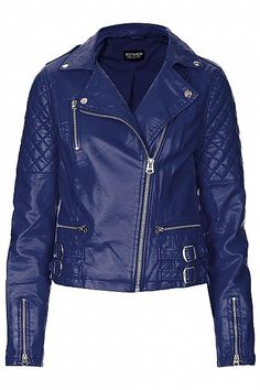 Quilted Biker Jacket by Topshop