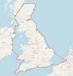 Cijfers bij zeilen Rond Engeland  Het rondje zeilen om Engeland Schotland en Ierland in cijfers en een overzicht van de route met de aangedane havens. Ben Nevis, Falmouth, Swansea, Newcastle, Om, World, The World