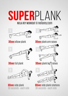 Superplank Workout #fitness #abs #workout #neilarey #plank