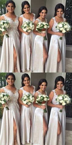 Customized Fetching A-Line Bridesmaid Dresses, Silver Bridesmaid Dresses, Long Bridesmaid Dresses, Lace Bridesmaid Dresses Bridesmaid Dresses silver bridesmaid dresses Champagne Bridesmaid Dresses, Lace Bridesmaids, Lace Party Dresses, Flower Girl Dresses, Wedding Dresses, Bride Dresses, Dresses Dresses, Long Dresses, Dress Lace