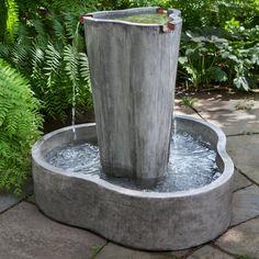 Campania International Le Corbusier Waterfall Outdoor Fountain - FT-276-AS