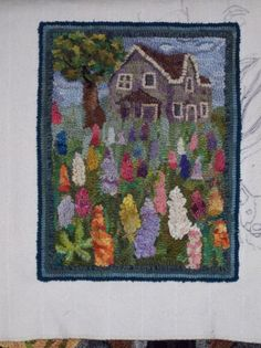 Making art with wool. An interactive rug-hooking community. Rug Hooking Designs, Rug Hooking Patterns, Lupine Flowers, Hook Punch, Art Mat, Rugs And Mats, Hand Hooked Rugs, Starry Nights, Rug Ideas