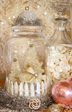 holiday in a jar - from the handmade ornament class