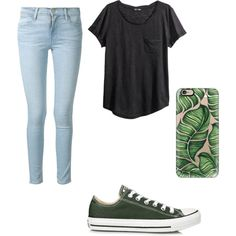 A fashion look from October 2015 by irene-czernicki featuring H&M, Frame Denim, Converse and Casetify