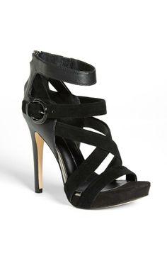 Strappy Black Heel.